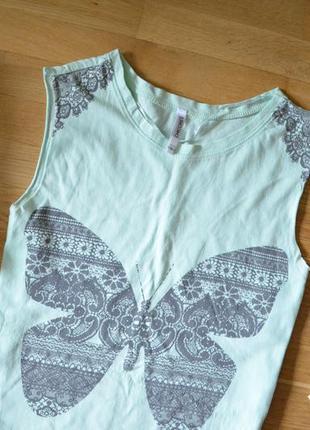 Мятная футболка с бабочкой, cherokee