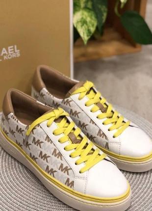 Кроссовки michael kors chapman camel sneakers