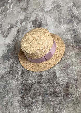 Соломенная шляпа канотье капелюх в стиле zara