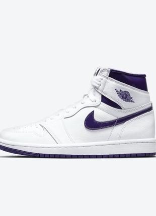 Кросівки жіночі wmns air jordan 1 high og 'court purple'