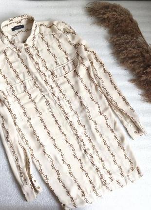 ✨неймовірна, довга блуза , подовжена спинка , рубашка  із принтом ✨