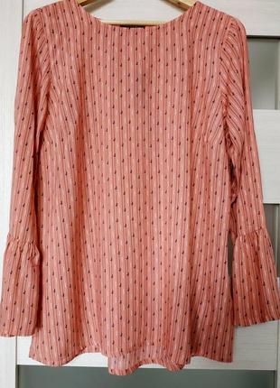 Легкая коралловая блуза вискоза esmara
