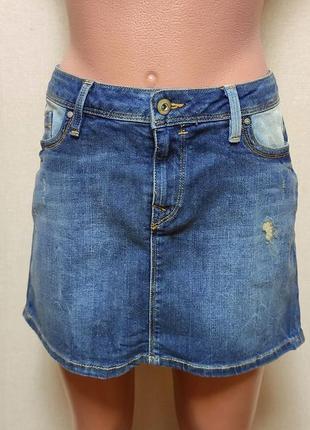 Юбка короткая джинсовая esprit