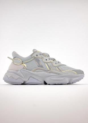 Кроссовки adidas ozweego grey silver