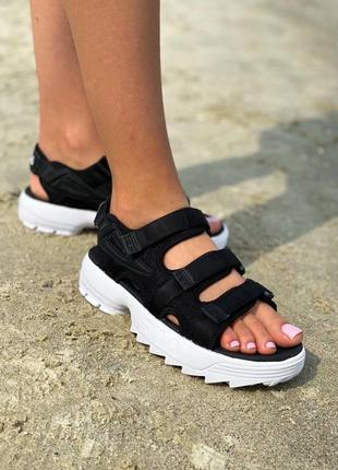 Fila disruptor sandal black💣 оригинал корея 
