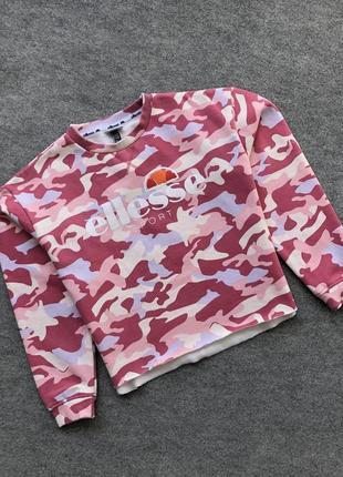 Жіночий світшот, топ, свитшот ellesse sport women's sweatshirt camo pink