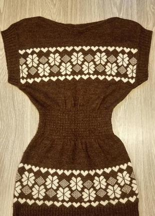 Туника , платье, кофта зимний узор