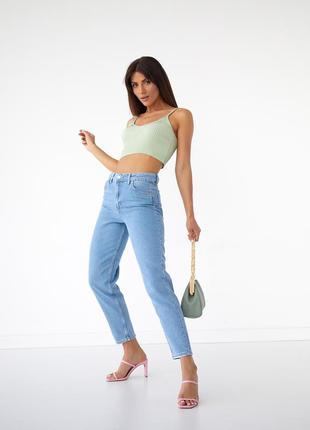 Mom джинси мом бойфренди блакитні сині турция 🇹🇷