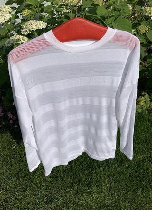 Кофта реглан лёгкий свитер лонгслив белый next