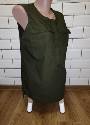 Стильная блуза с накладными карманами р. l-xl