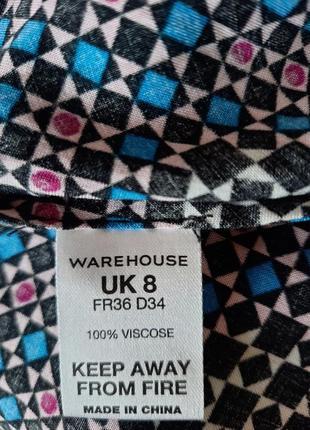 Платье warehouse вискоза плаття сукня мини міні6 фото