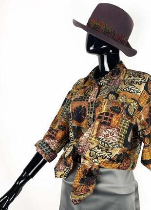 Шелковая рубашка винтаж