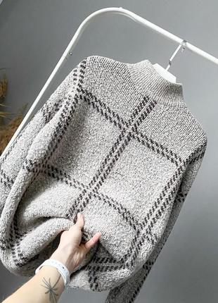 Мягкий свитер букле в клетку next