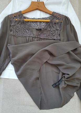 Изумительная шелковая блузка 100% натуральный шелк