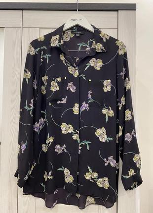 Рубашка в цветочный принт