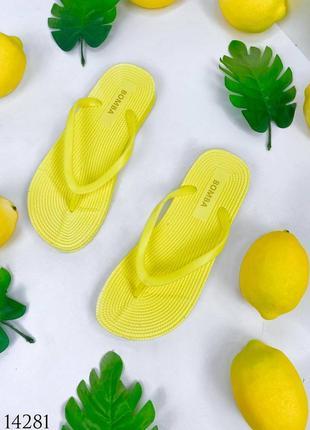 Женские шлепки вьетнамки malibu, желтые