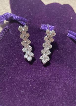 Нежные серьги с австрийскими кристаллами