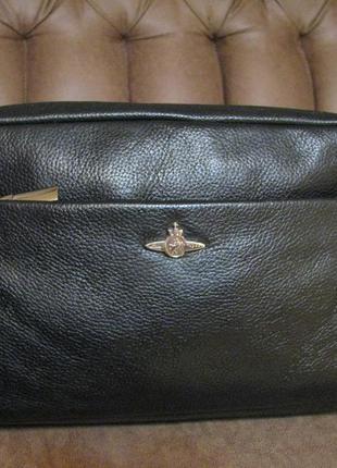 Красивая сумка через плече linea кожа