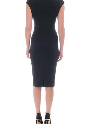 Ted baker платье чёрное карандаш футляр по фигуре миди с камнями воротником оригинал6 фото