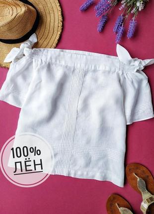 Белоснежная льняная блуза whistles.