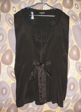 Натурального шелка длинная блуза туника этно бохо