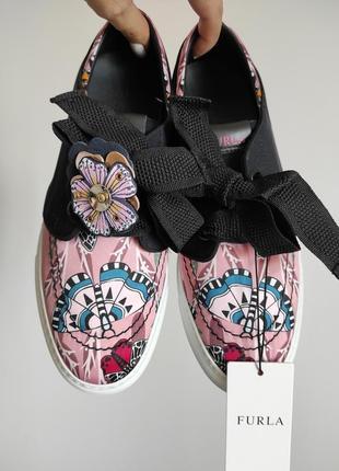 Новые легчайшие кеды furla италия оригинал кроссовки сникеры туфли в цветах фурла