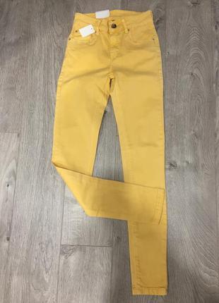Летние яркие джинсы штаны новые xs