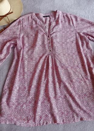 Натуральная  блуза большого размера батал
