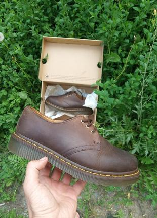 Кожаные туфли ботинки броги dr. martens 1461