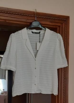 Красивая рубашка сорочка блуза zara свободного кроя