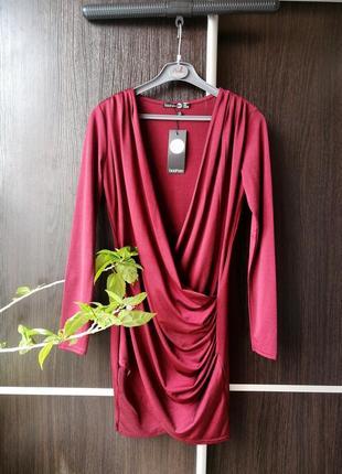 Шикарное, оригинальное новое платье сукня туника с переливом.boohoo