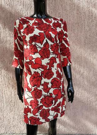 Яркое шифоновое платье сарафан цветочный принт atmosphere