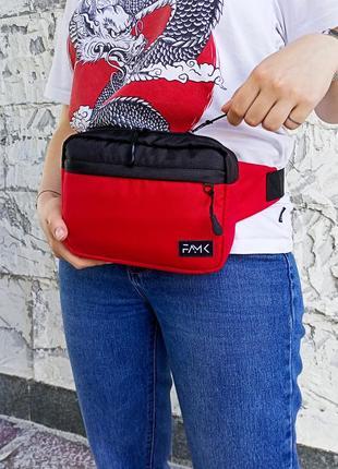 Поясная сумка famk r3 red black