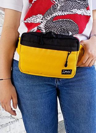 Поясная сумка famk r3 yellow black