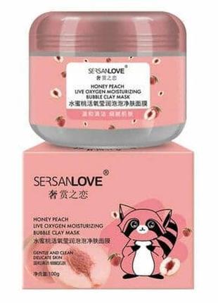 Кислородная маска с экстрактом меда и персика 100 g -корейская косметика для лица