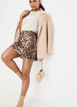 Шикарная леопардовая юбка спідниця