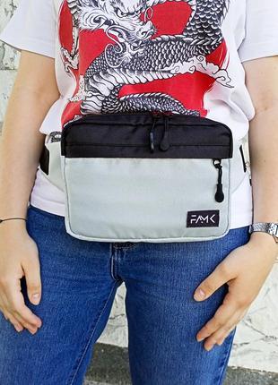Поясная сумка famk r3 gray black