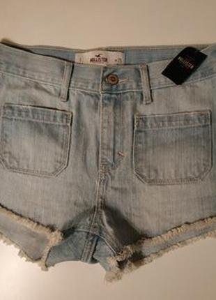 Супер модные фирменные джинсовые шорты hollister новые
