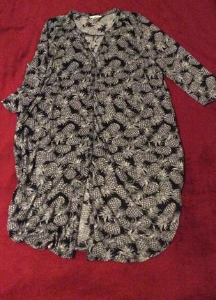 Платье рубашка халат миди h&m