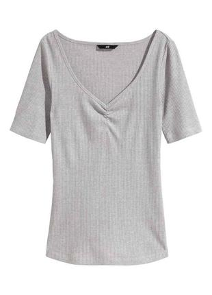 Базовая женская футболка h&m