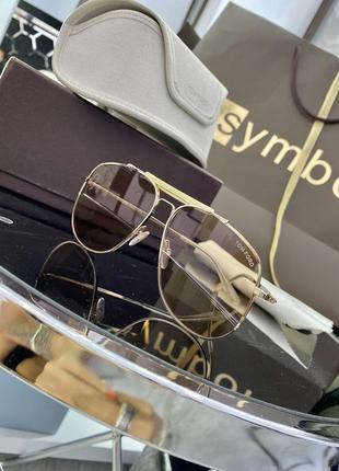 Шикарные бежевые полупрозрачные очки tom ford connor