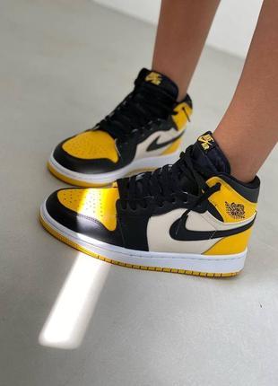 Кроссовки nike air jordan yellow toe