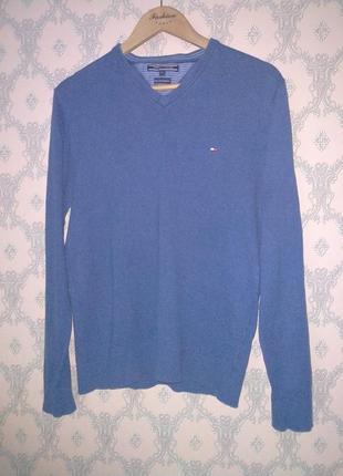 Мужской синий пуловер от tommy hilfiger