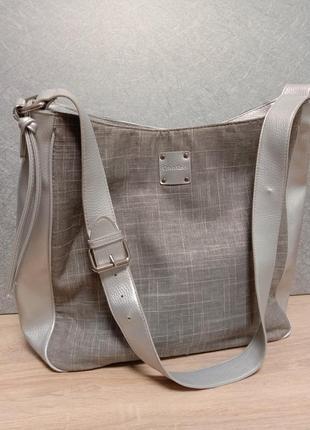Текстильная стильная сумка шопер calvin klein оригинал