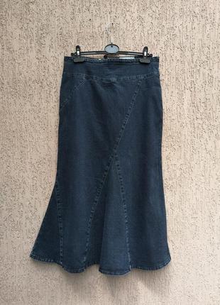 Стрейчевая джинсовая юбка спідниця  міді per'una