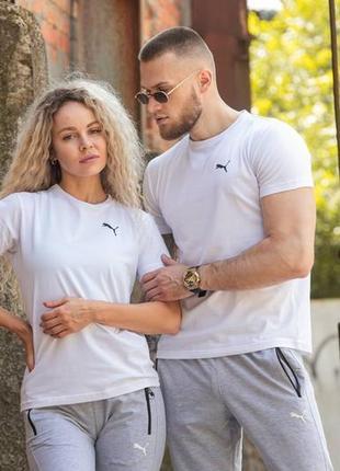 Футболка белая базовая, футболки для двоих❤фемили лук