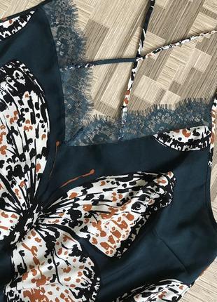 Пижама ночнушка батал большая атласная кружевная для сна6 фото