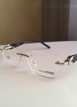 Фирменная безободковая оправа под линзы,очки оригинал gf.ferre gf430-01