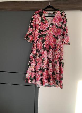 Летнее женское платье zara в цветок