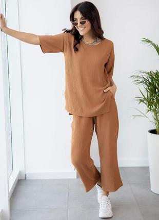 Стильний костюм з укороченими штанами